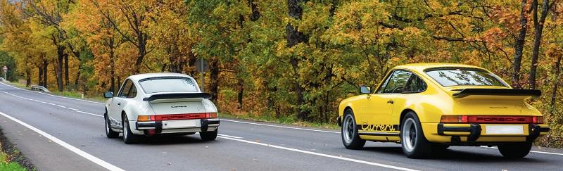 L'arrière des deux 911 toujours aussi beau