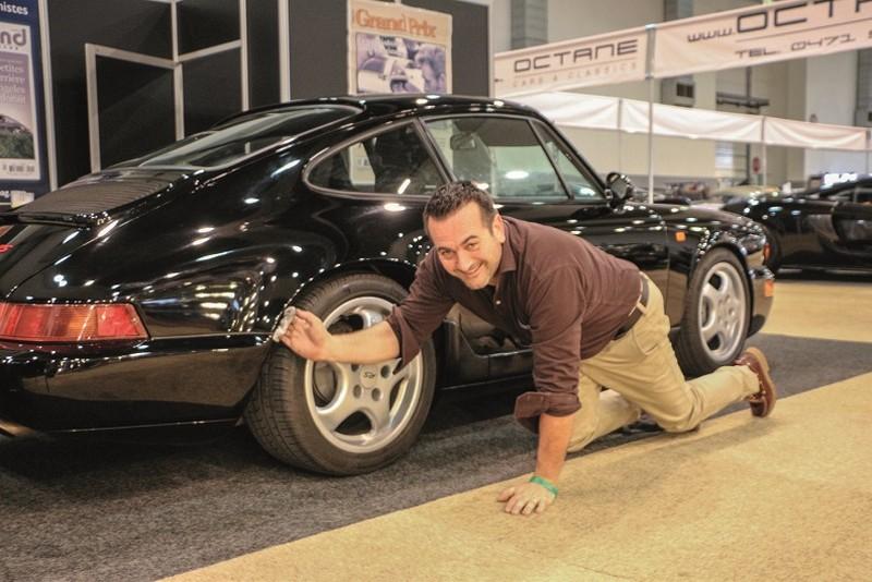 Ambroise lustre la Porsche