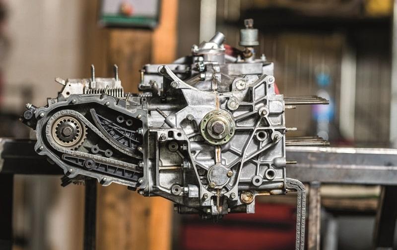 bloc moteur Porsche 6 cylindre à plat, première rangée de cylindres remontée 964 RS