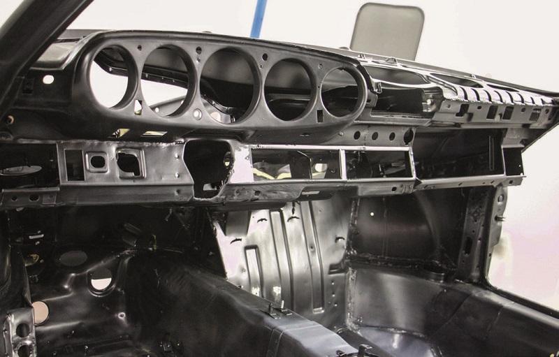 les emplacements de compteurs typiques des anciennes Porsche 911
