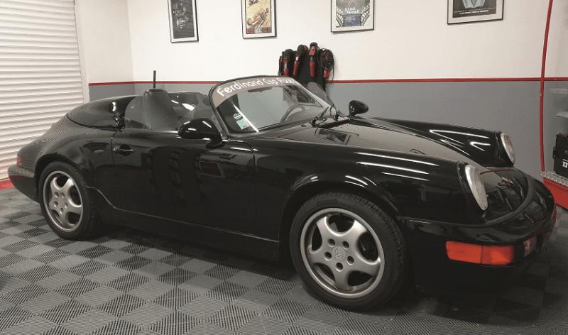 la 964 speedster dans les locaux de Passion detailing